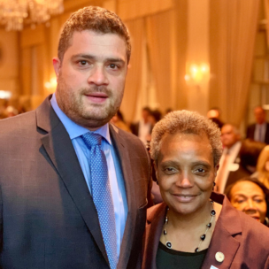 Board Member Nesko Radovic with Chicago Mayor Lori Lightfoot